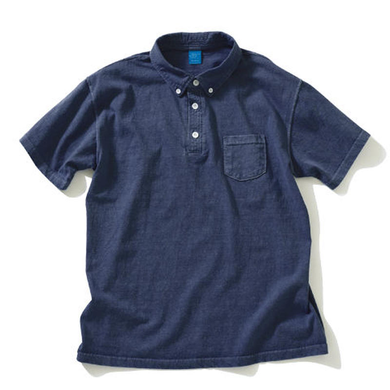 """GOOD ON""S/S POLO TEE (PIGMENT DYE)"