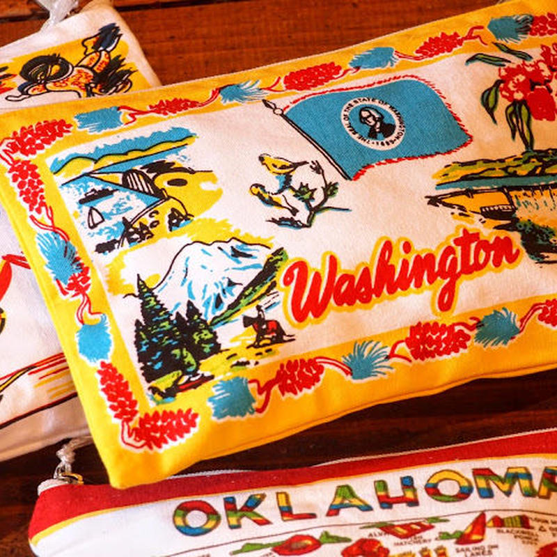 """RED and WHITE Kitchen Company"" Map Pouch[WASHINGTON]"