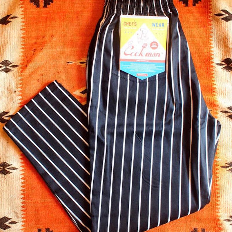 """再入荷!""""COOKMAN""""Chef Pants 「Pin Stripe」Black"""