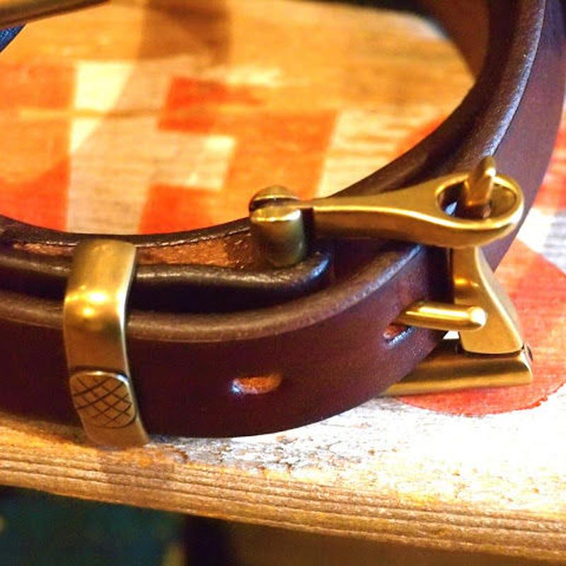 """BARNS"" Tochigi Leather Fireman buckle Belt(Choco)"