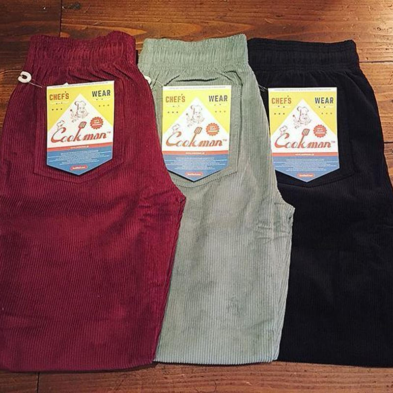 """COOKMAN"" Chef Pants[Corduroy/BLACK]"