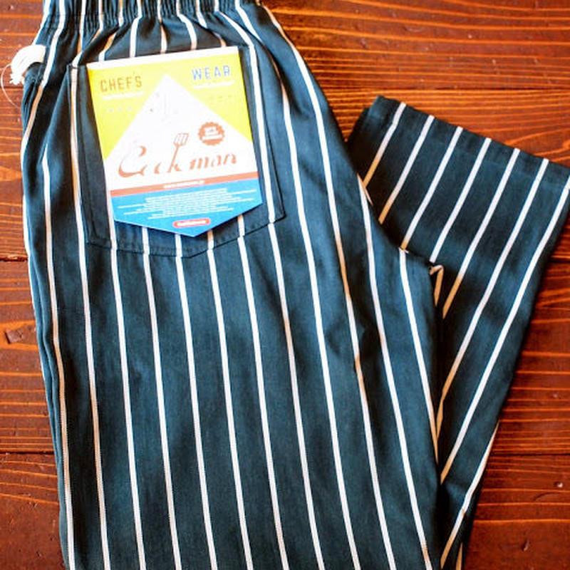 """""""COOKMAN""""Chef Pants 「Pin Stripe」Dk.Green"""