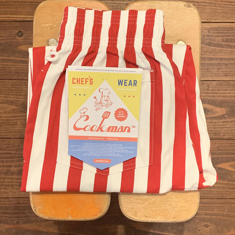 """COOKMAN"" Chef Pants[Wide Stripe/RED]"