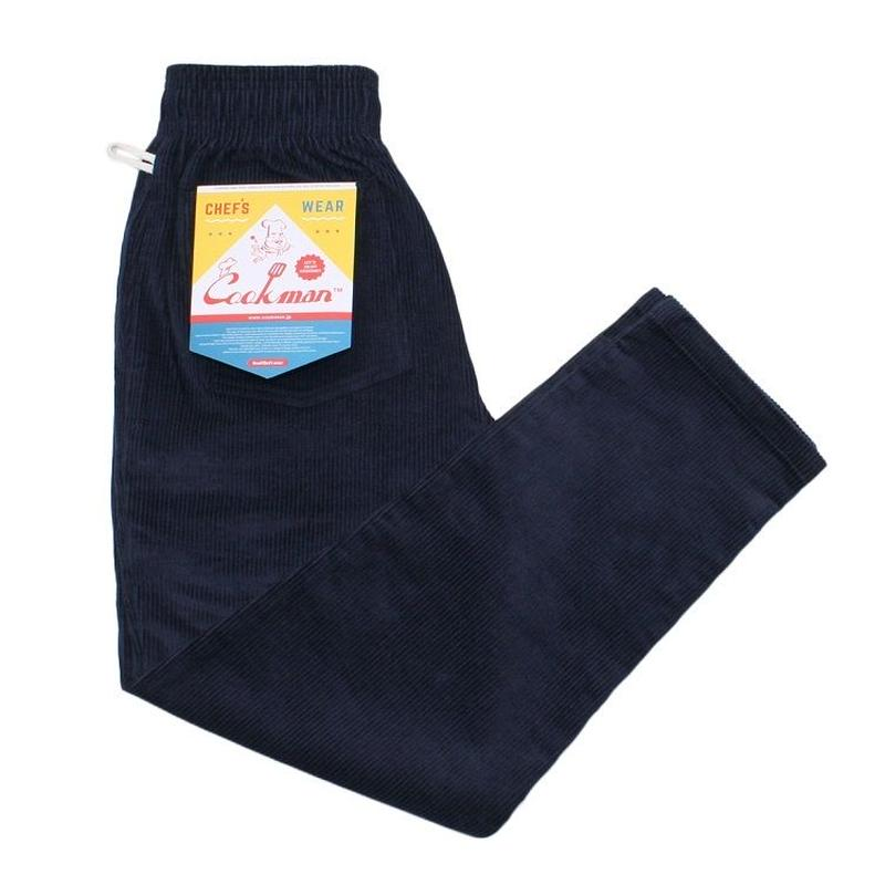 """COOKMAN"" Chef Pants[Corduroy/Navy]"