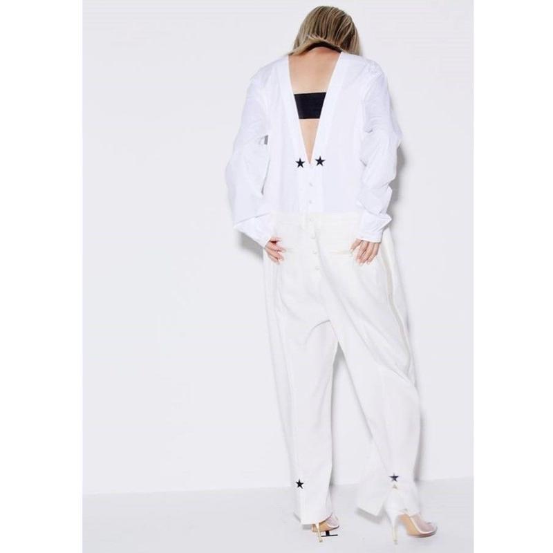 SURREAL BUT NICE タキシードシャツジャンプスーツ