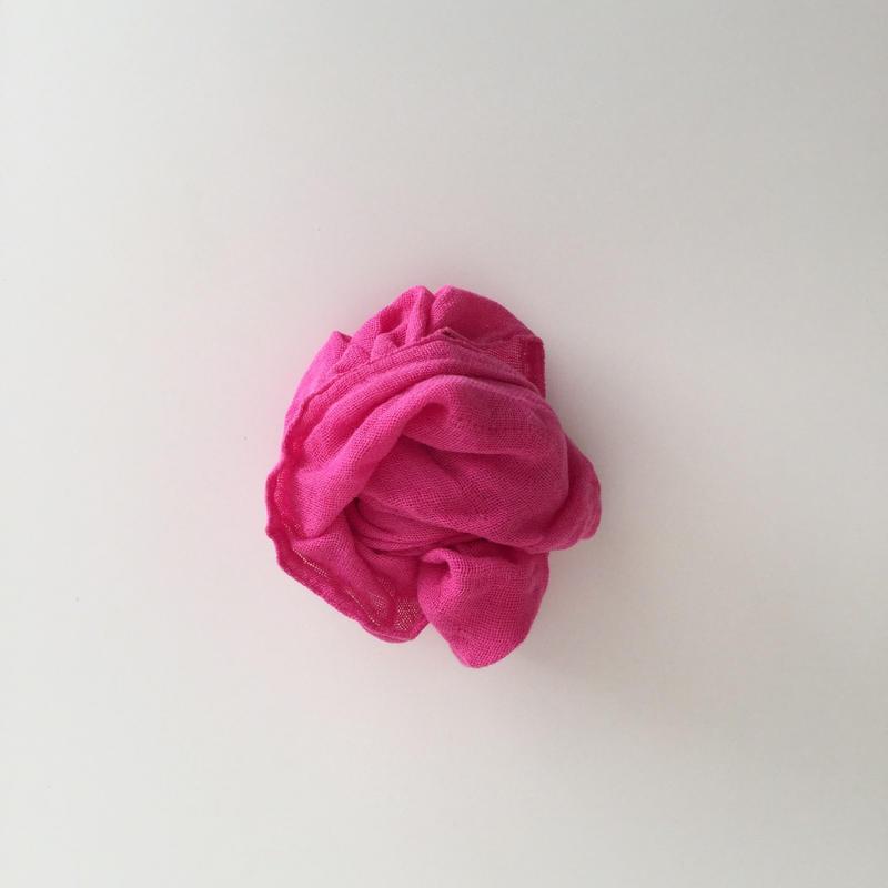 蚊帳ふきん 大  ピンク