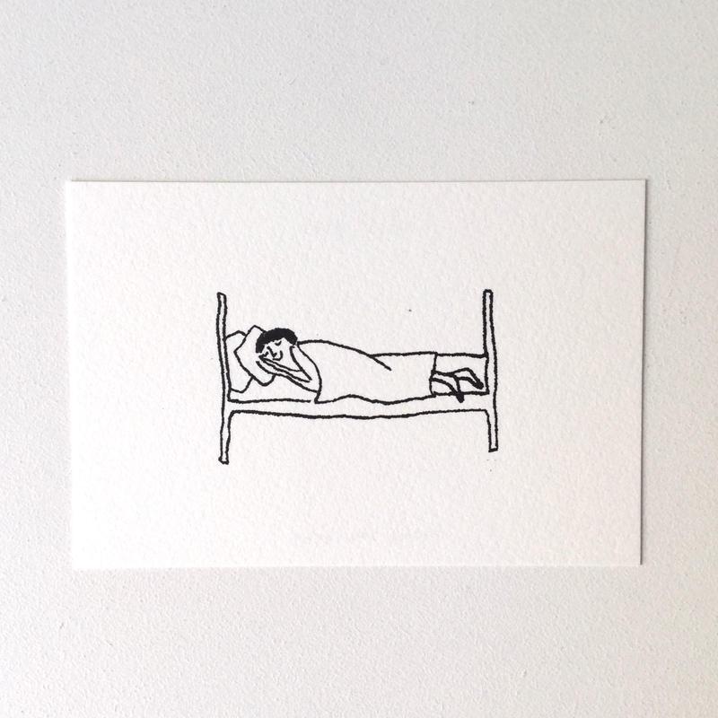 ポストカード おやすみなさい