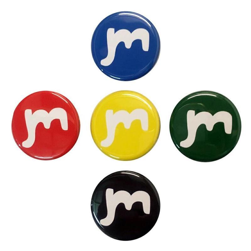mバッジ 5色セット