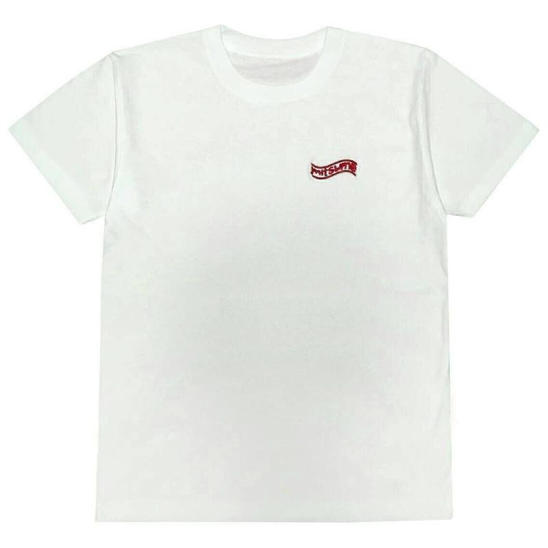 mitsumeレッド刺繍Tシャツ[WHITE]