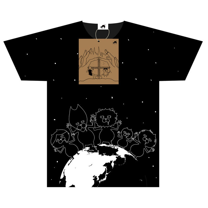 ① [数量限定] 地球侵略デカTシャツ(オリジナルCD付き)
