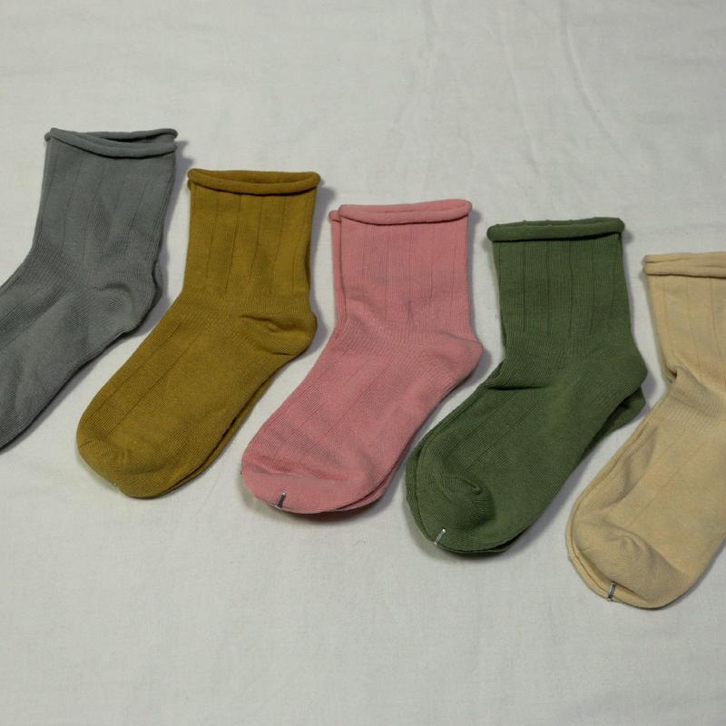 『くすみ色』Socks 5足セット 16-18cm/ 18-22cm