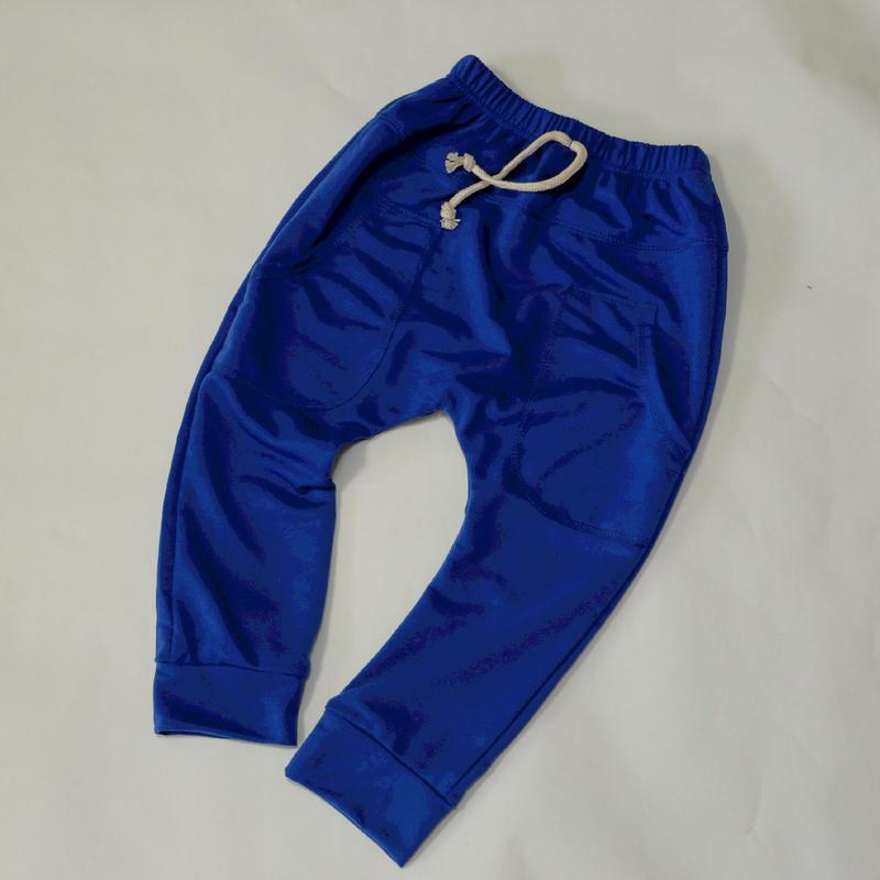 ソフトコットンパンツ Blue 110cm~130cm
