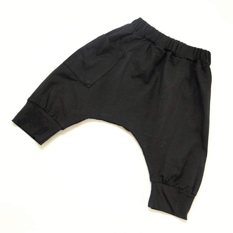 コットンショートパンツ Black 100~120cm