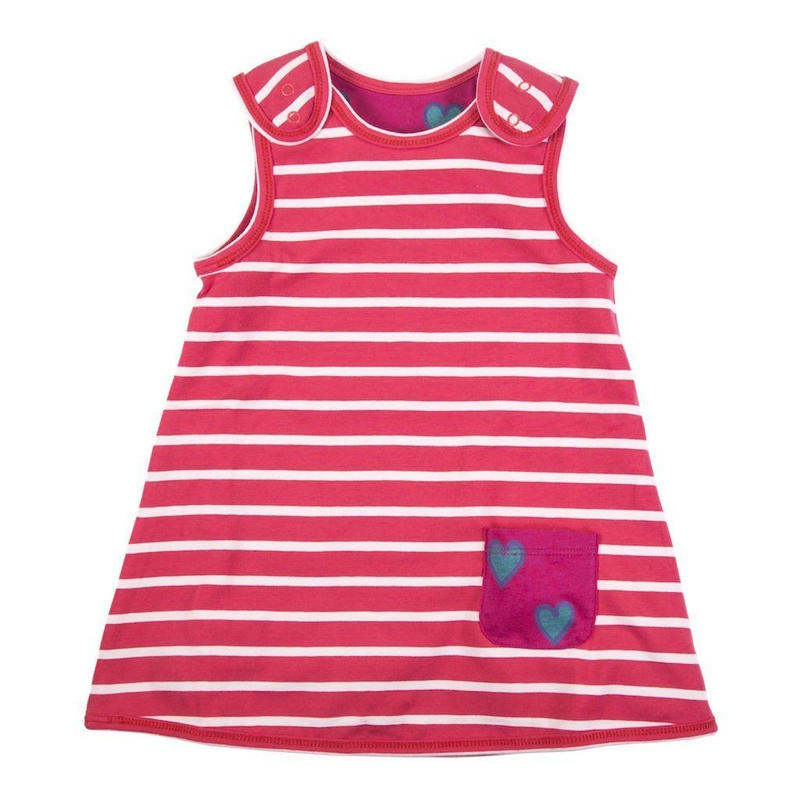 HUGABUG Organic Cotton  Pink Reversible Dress 80/ 92cm