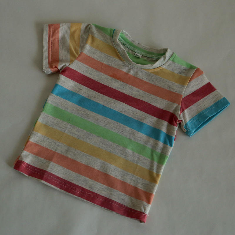 マルチストライプ Tシャツ 100cm/ 110cm