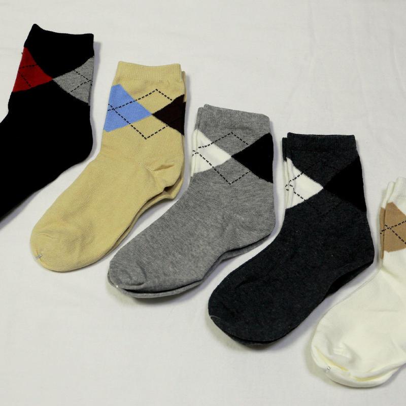アーガイル柄Socks 5足セット 16-18cm/ 18-22cm