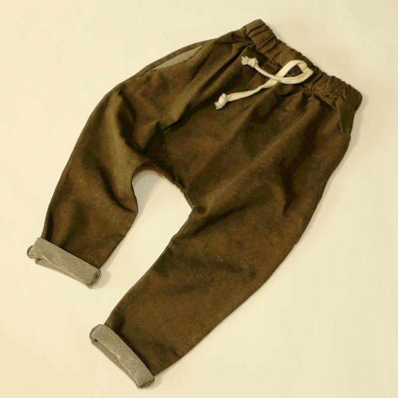 デニム風ハーレムパンツ Khaki 110cm/ 130cm