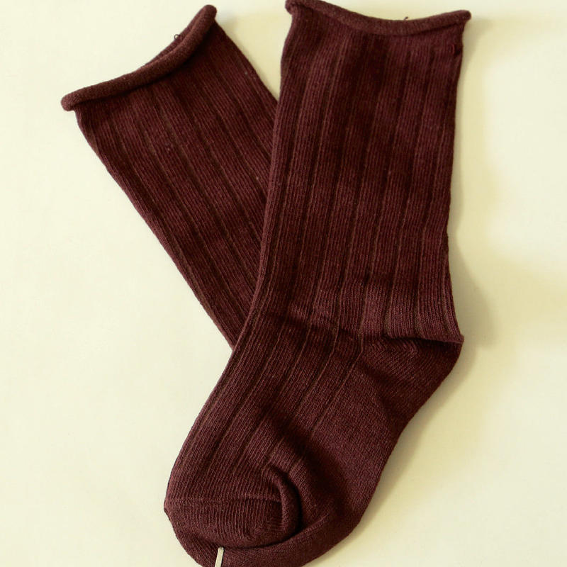 無地Socks Brown 1足 7-14cm/ 18-22cm