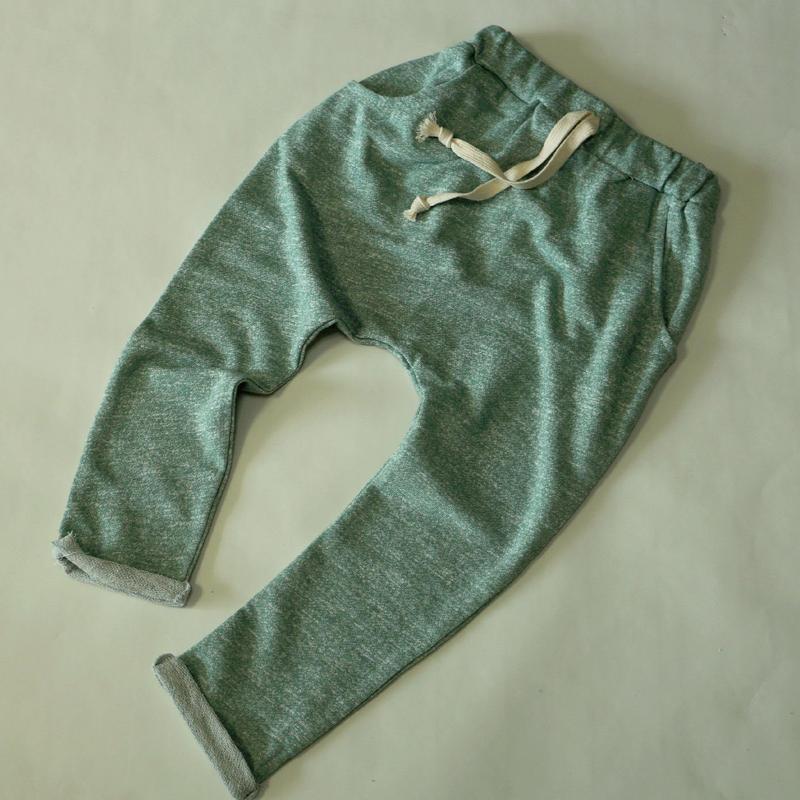 ざっくりスウェットパンツ Green 100~120cm