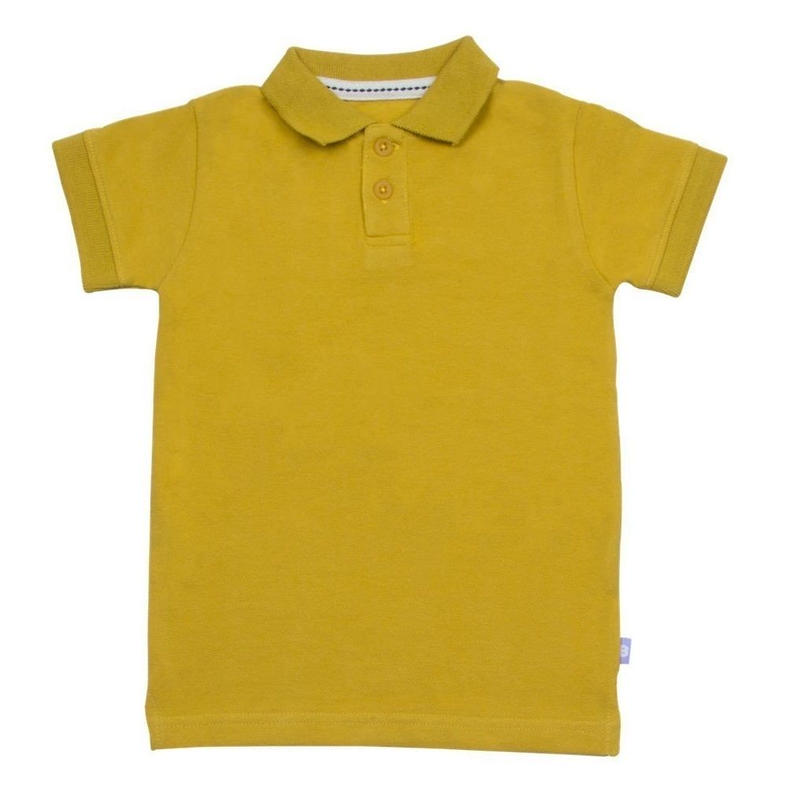 HUGABUG Organic Cotton Polo Yellow 98/ 104cm