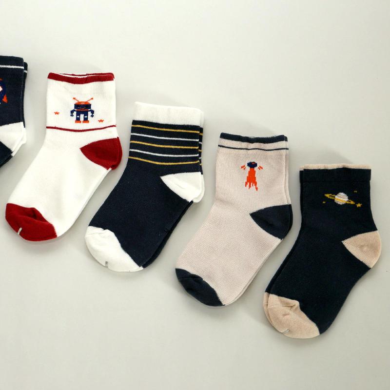 Space Socks 5足セット 14-16cm/ 16-18cm/ 18-22cm