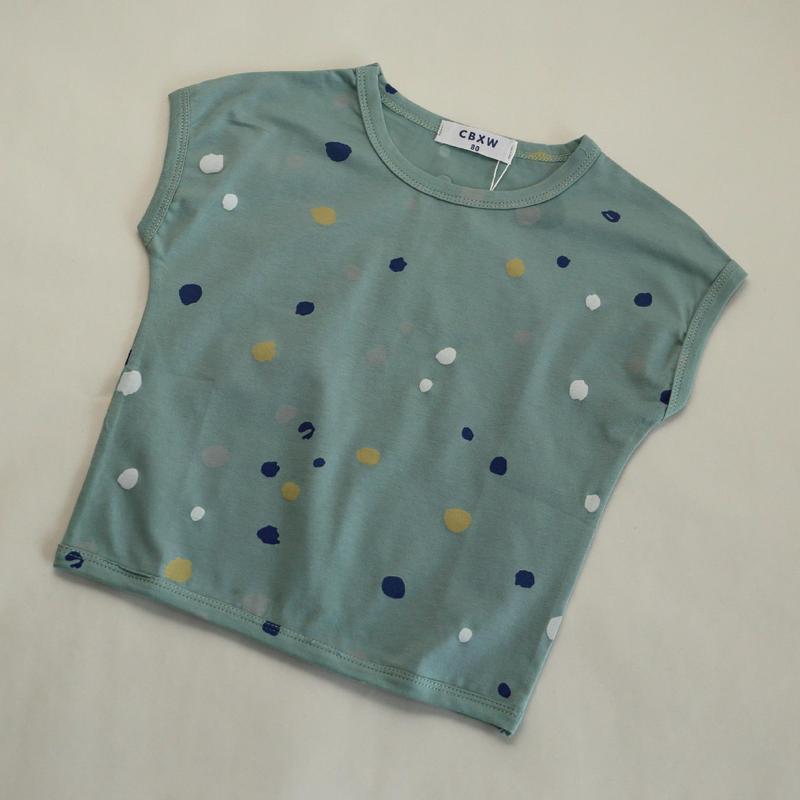 マルチドットTシャツ Blue Grey 80~120cm