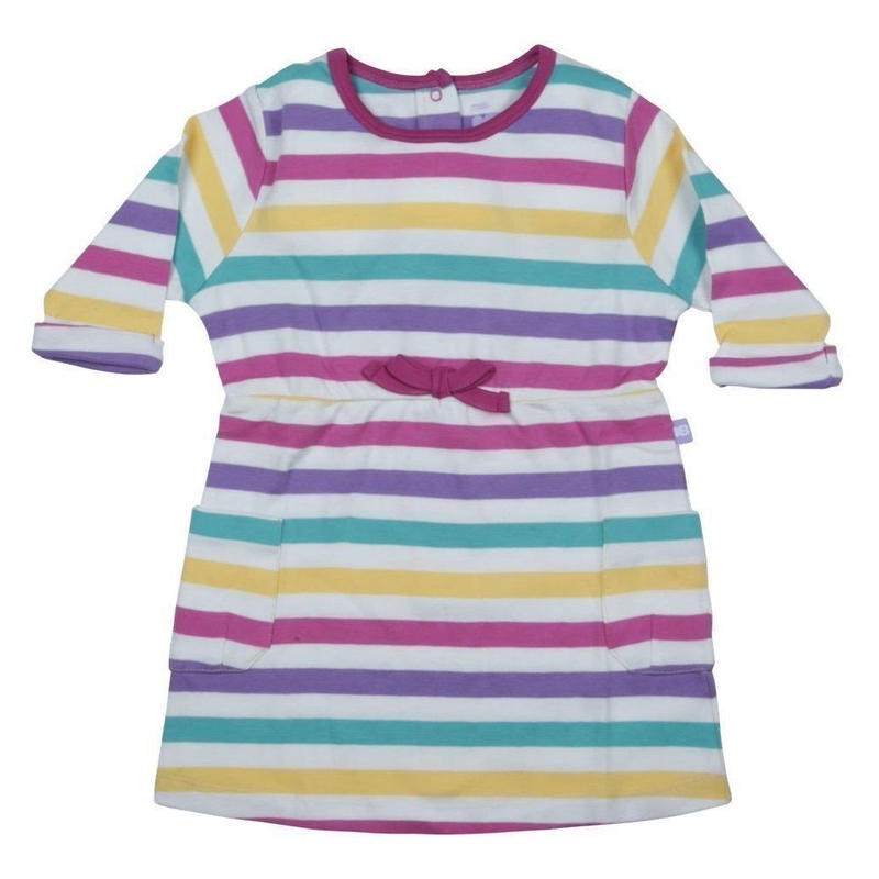 HUGABUG Jersey Stripe Dress Pink 98/ 104cm