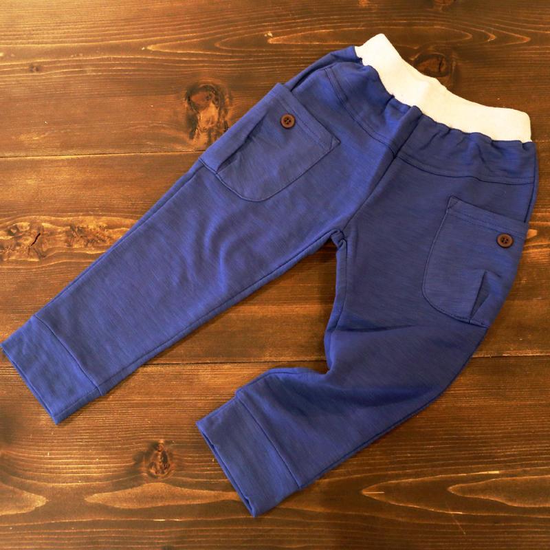コットン ポケットパンツ Blue 100cm/ 110cm/ 120cm/ 130cm/ 140cm