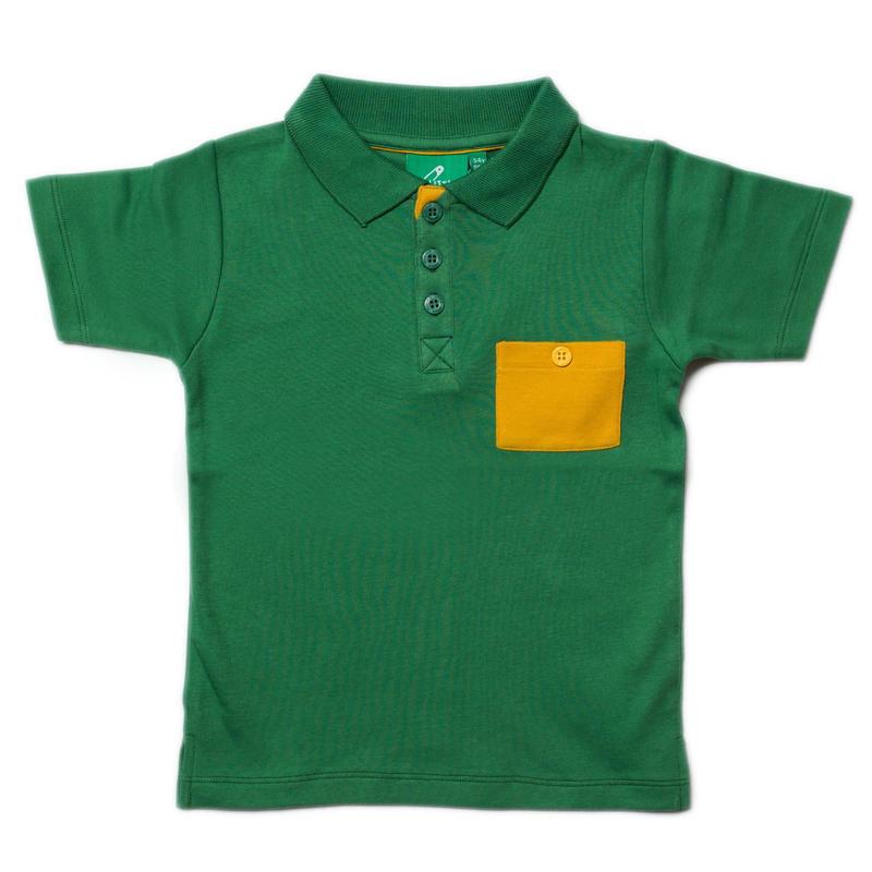 Little Green Radicals Jungle Green Sunshine Polo 104cm/ 110cm/ 116cm/ 122cm/ 128cm