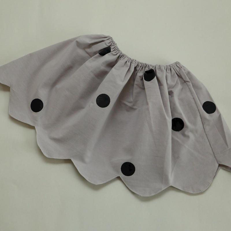水玉スカート Grey 80~100cm