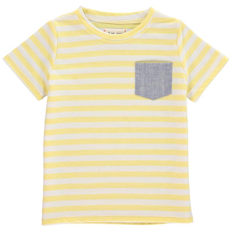 Me & Henry ポケットストライプTシャツ Yellow 110cm/ 116cm/ 122cm/ 132cm/ 135cm