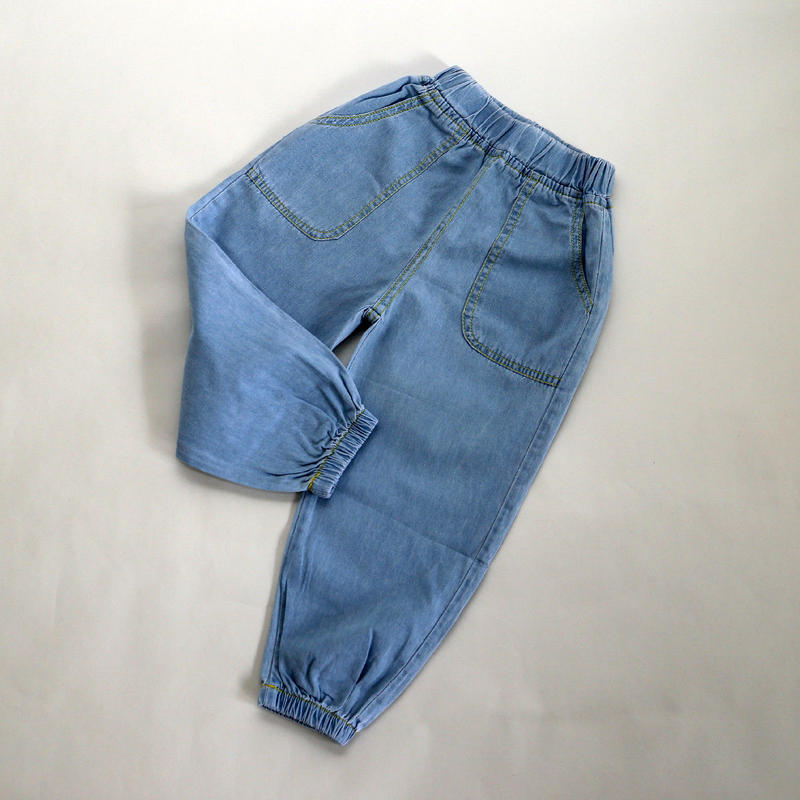 薄手コットンデニムパンツ Light Blue 100~120cm