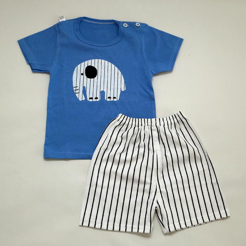 ゾウさんパジャマ Blue 90~120cm