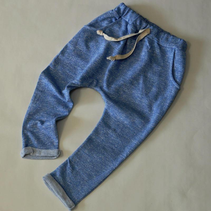 ざっくりスウェットパンツ Blue 90cm~140cm