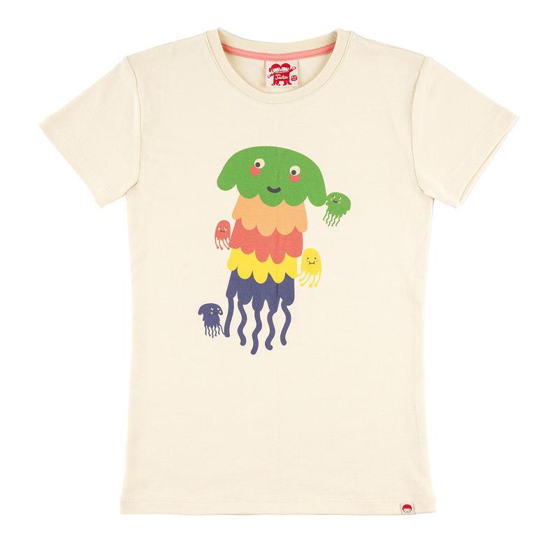 Tootsa Organic Cotton 半袖T クラゲ 110cm/ 116cm/ 125cm