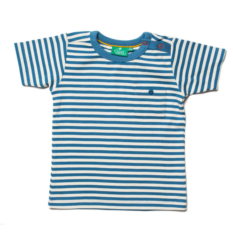 Little Green Radicals Ocean Blue Stripe T 98cm/ 104cm/ 110cm/ 116cm/ 122cm/ 128cm