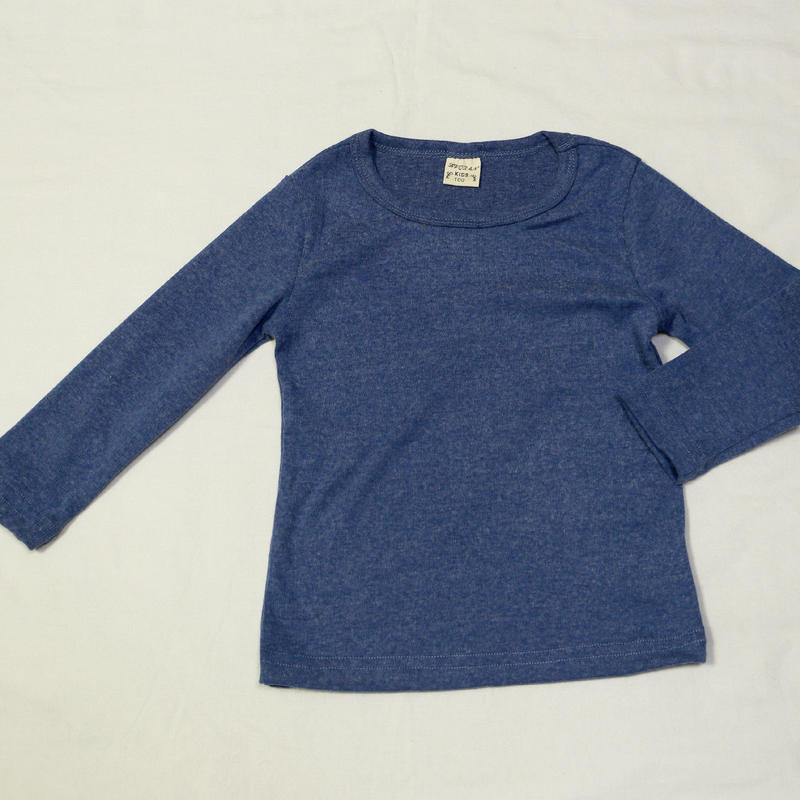 コットン無地Tシャツ Blue 90cm/ 100cm/ 110cm