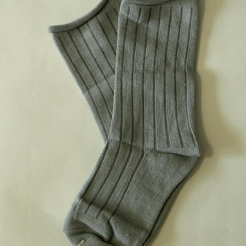 無地Socks Grey 1足 14-18cm