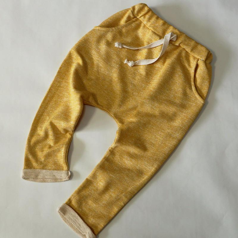 ざっくりスウェットパンツ Yellow 100cm