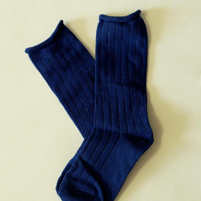 無地Socks Blue1足 14-18cm