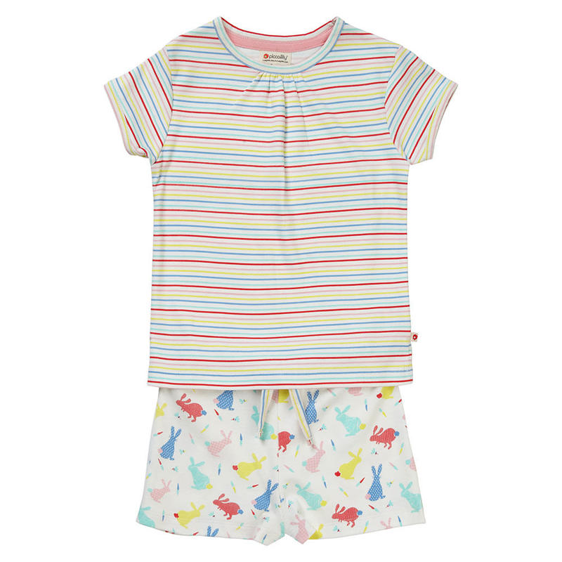 Piccalilly Hoppiong Bunny Pajamas Short 92/ 98/ 104/ 110/ 116/ 122/ 128cm