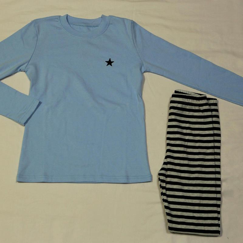 星×ストライプパジャマ 150cm