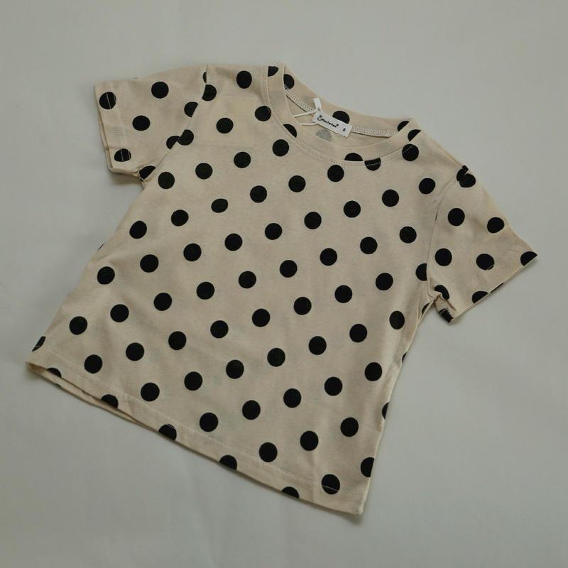 水玉半袖Tシャツ Dark Grey 90cm~130cm