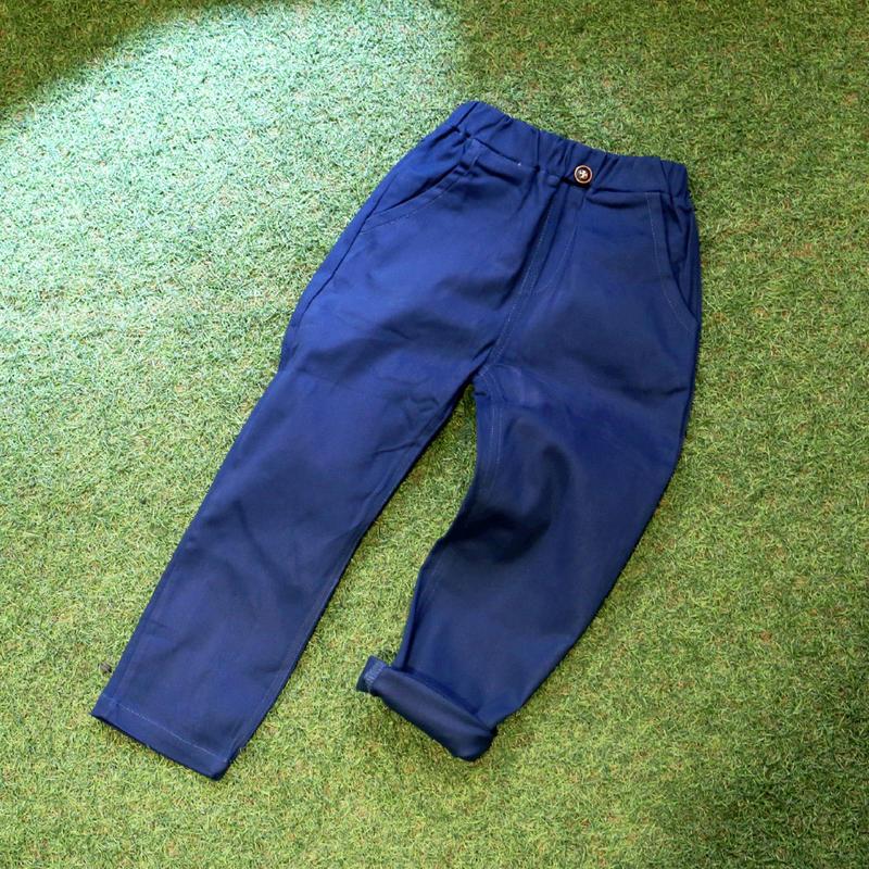 コットン チノパンツ Blue 100cm/ 110cm/ 120cm