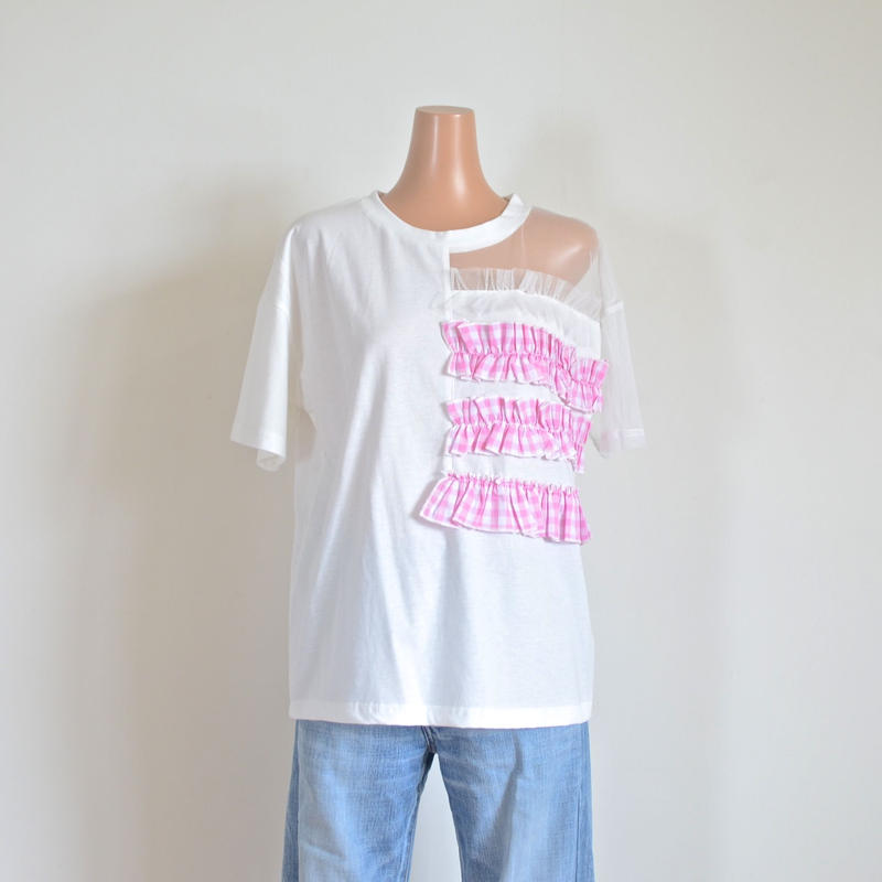 アシンメトリーTシャツ ピンク ブリジットバルドー