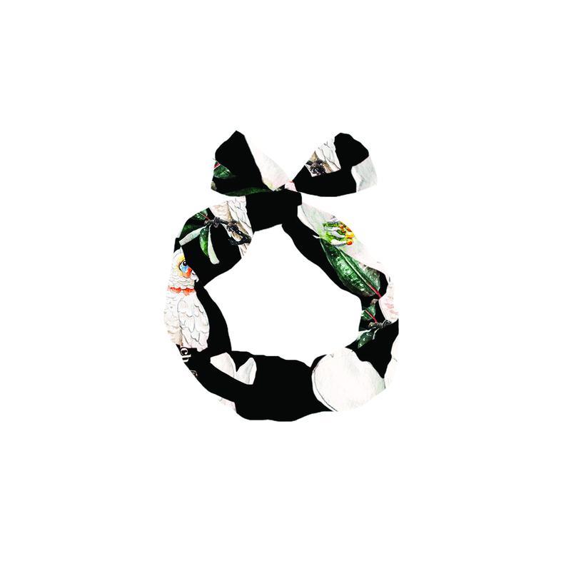 オウム&フラワーヘッドバンド black NACH