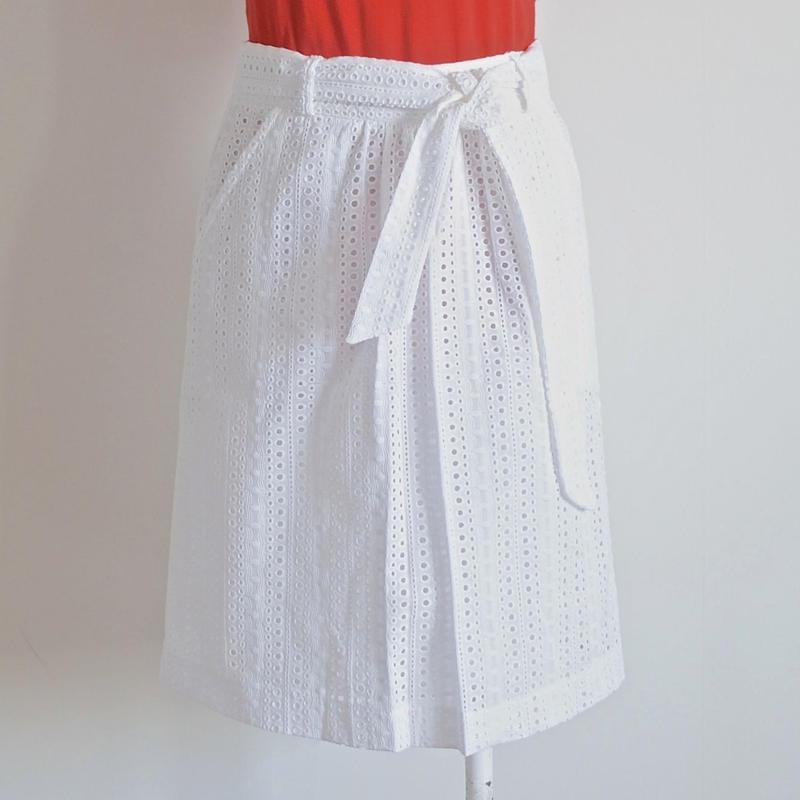 コットンレーススカート white  LA PETITE FRANCAISE