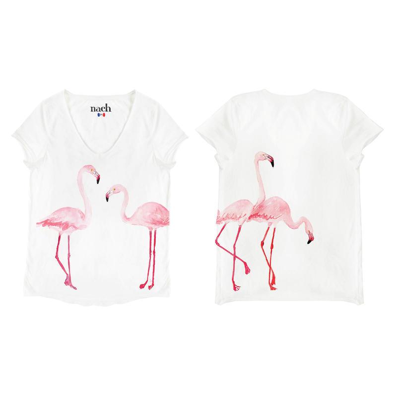 ピンクフラミンゴTシャツ NACH