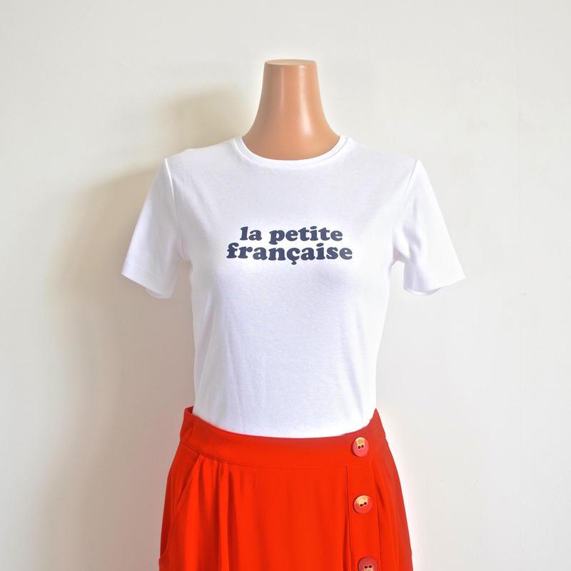 ロゴTシャツ white LA PETITE FRANCAISE