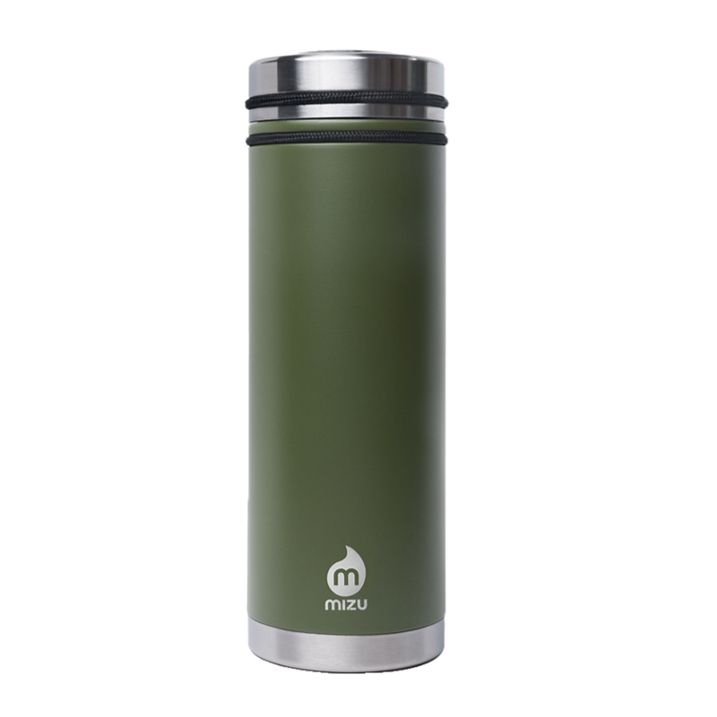 MIZU V7 WIDE Enduro Army Green/ w New Stainless Lid
